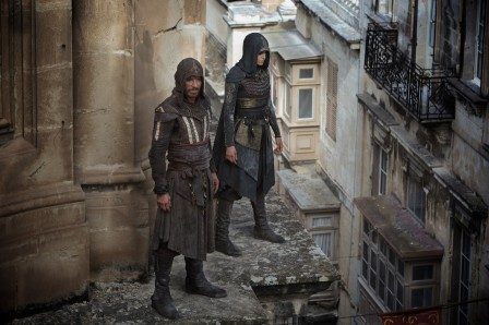 DF-01042 – Through a revolutionary technology that unlocks his genetic memories, Callum Lynch (Michael Fassbender) experiences the adventures of his ancestor, Aguilar, in 15th Century Spain with Maria (Ariane Labed). Photo Credit: Kerry Brown.
