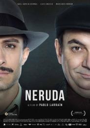 En Neruda, explora la persecución al famoso senador y poeta Pablo Neruda, quien es desaforado tras acusar al gobierno de traicionar al Partido Comunista.