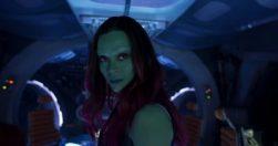 Zoe Saldana en Guardianes de la Galaxia Vol. 2 (2017)