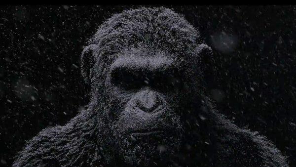 la guerra el planeta delos simios 2017.